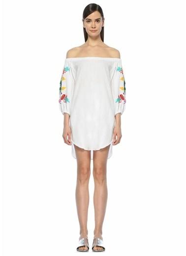 Sensi Studio Plaj Elbisesi Beyaz